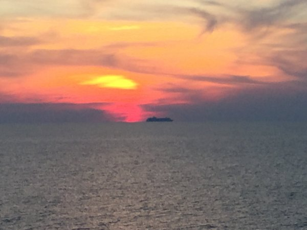 Sunset from Coral Princess