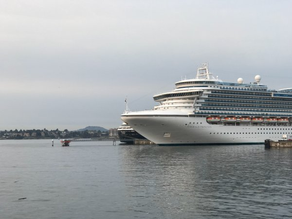 Emerald Princess, Ogden Point, Victoria, BC on August 18, 2018