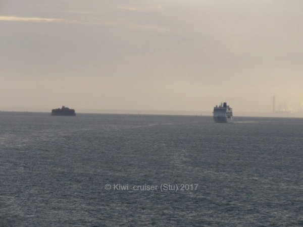 Ventura, Nautica and Adonia in & Leaving Southampton