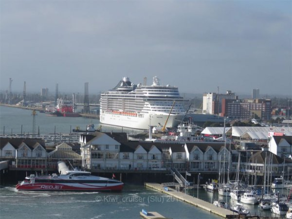 MSC Splendida in Southampton
