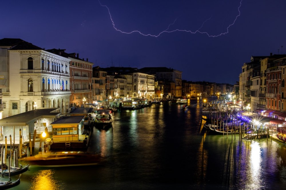0302 The Grand Canal at Night Venice - Italy 2019.jpg