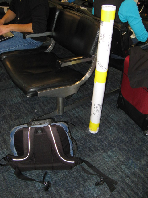 my backpack and the epic poster tube
