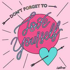 My message to all of CB today: Don't forget to love yourself. Made on my phone with an app