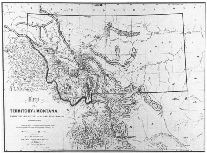 1865 DeLacey Map - Montana Territory