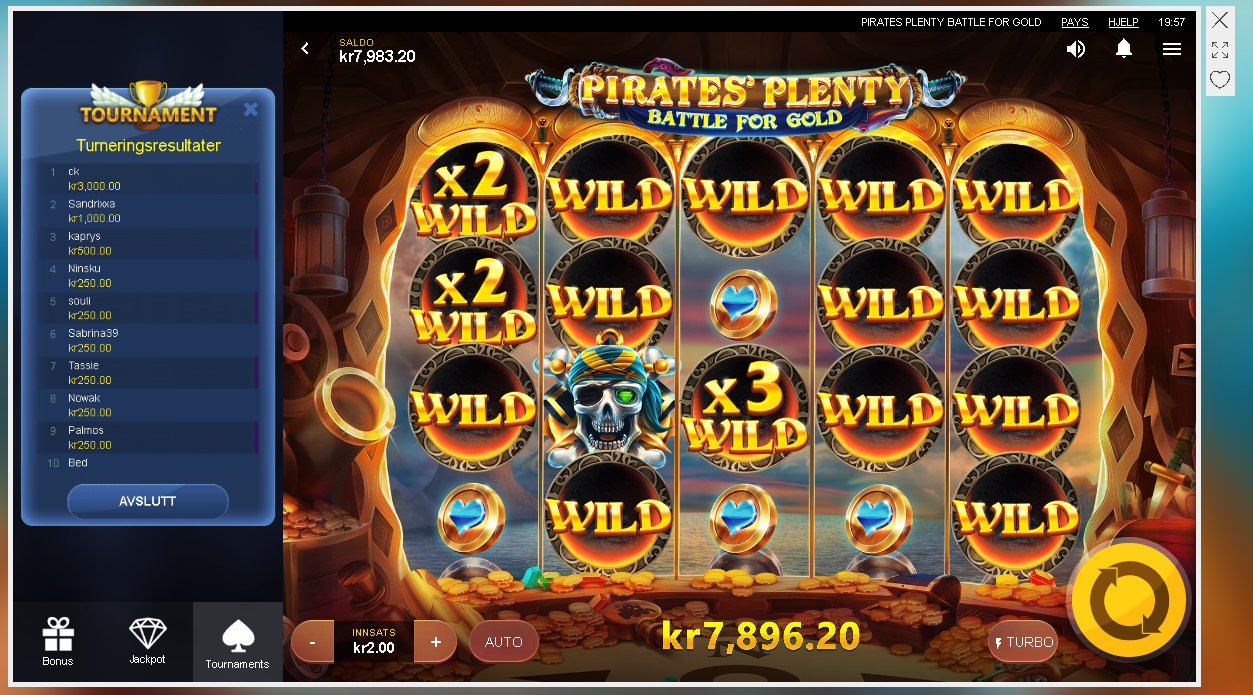 Pirates plenty jackpot