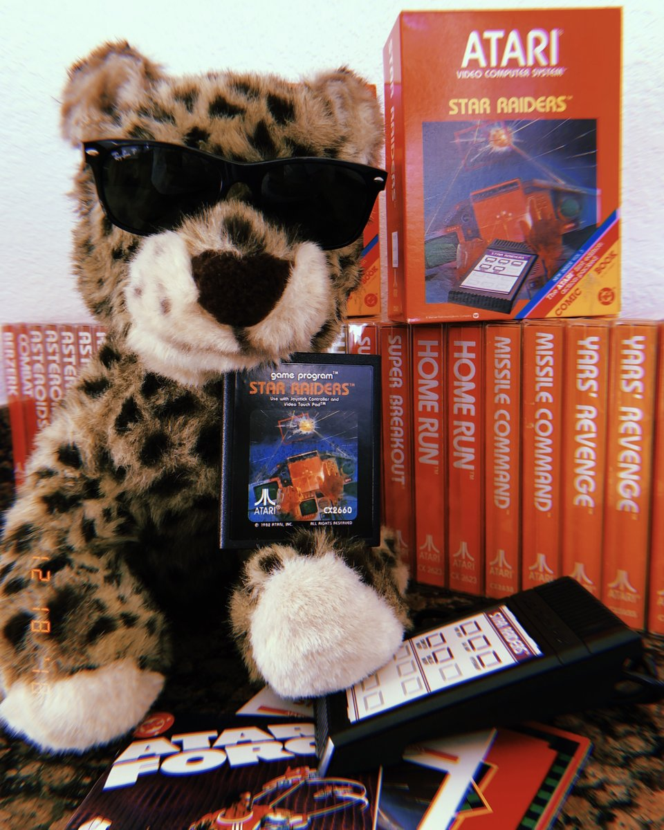 McFur with Star Raiders box set for Atari 2600