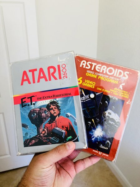 E.T. and Asteroids for Atari 2600 from my Personal Collection