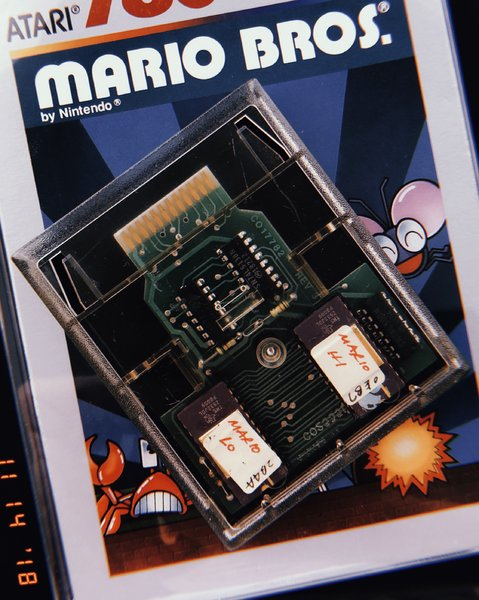 Mario Bros. Clear Working Prototype for Atari 2600 (1983)