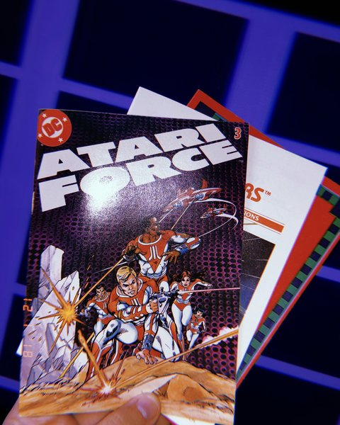 DC Comics Atari Force comic book with Star Raiders documentation and catalog