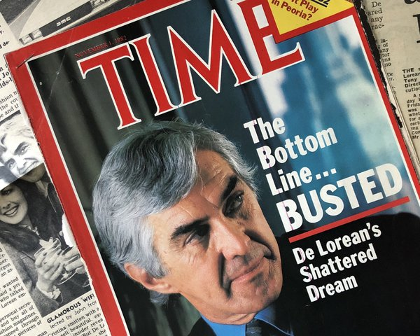 John Z. DeLorean on the cover of Time Magazine