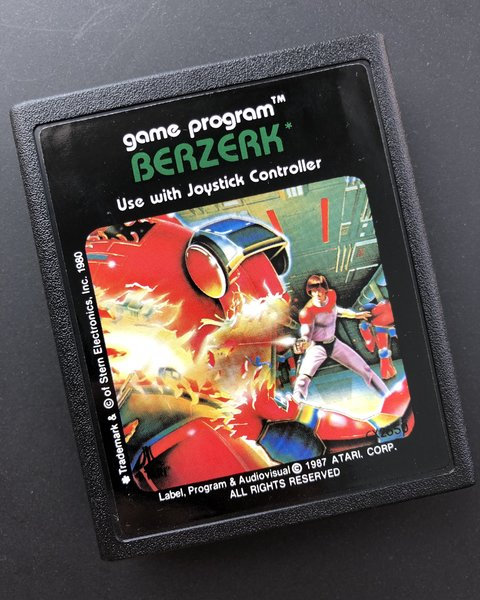 Red Box Berzerk for Atari 2600 (1988)