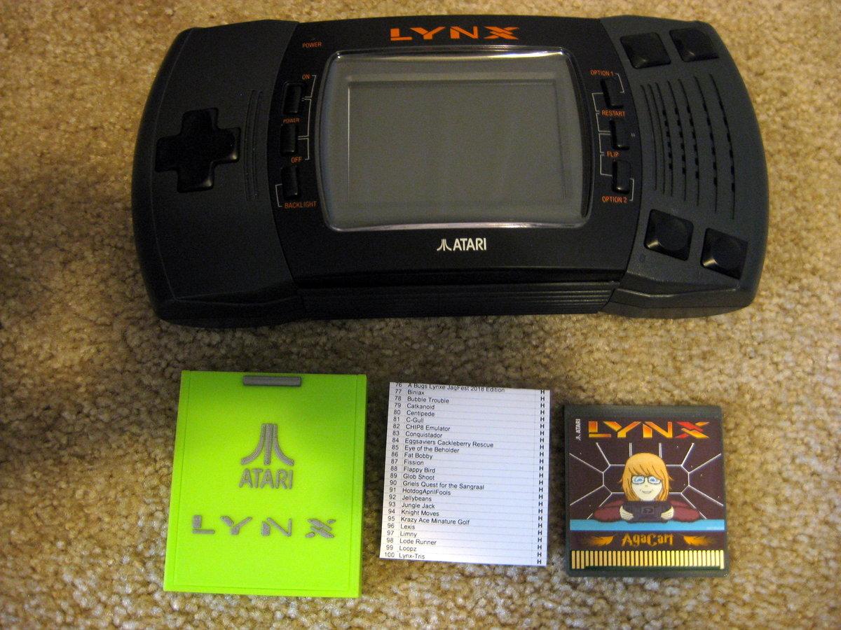 AgaCart - New SD Multicart for Atari Lynx - Atari Lynx