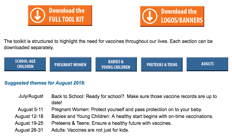 Admin's Content - Vaccines Safety Communication eLibrary
