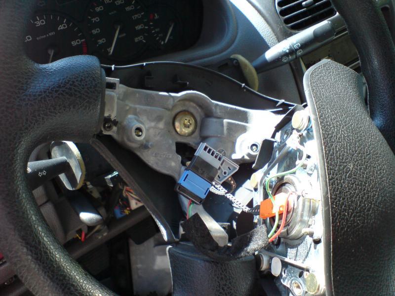 Airbag volant périphérique vérification réparation peugeot 206