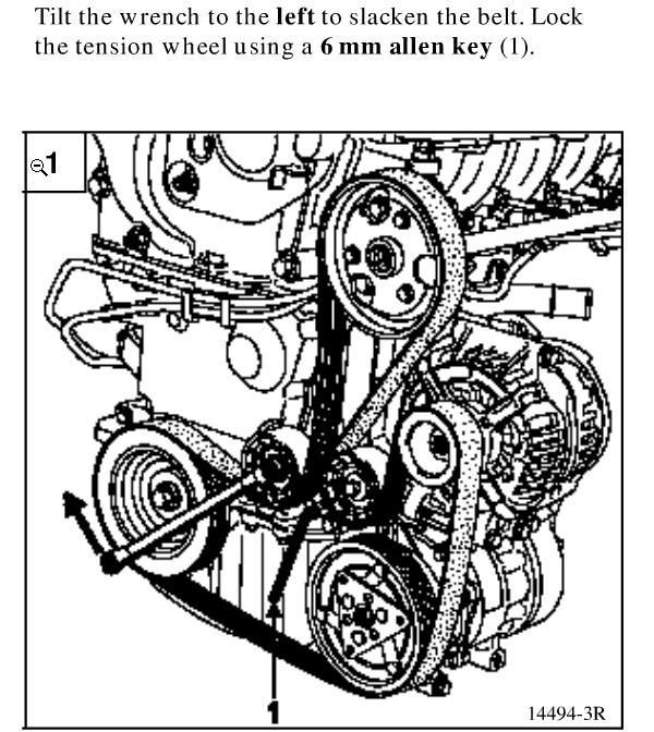 MEGANE SCENIC 1.4 1.6 16V Alternateur Courroie 1999-03 climatisation