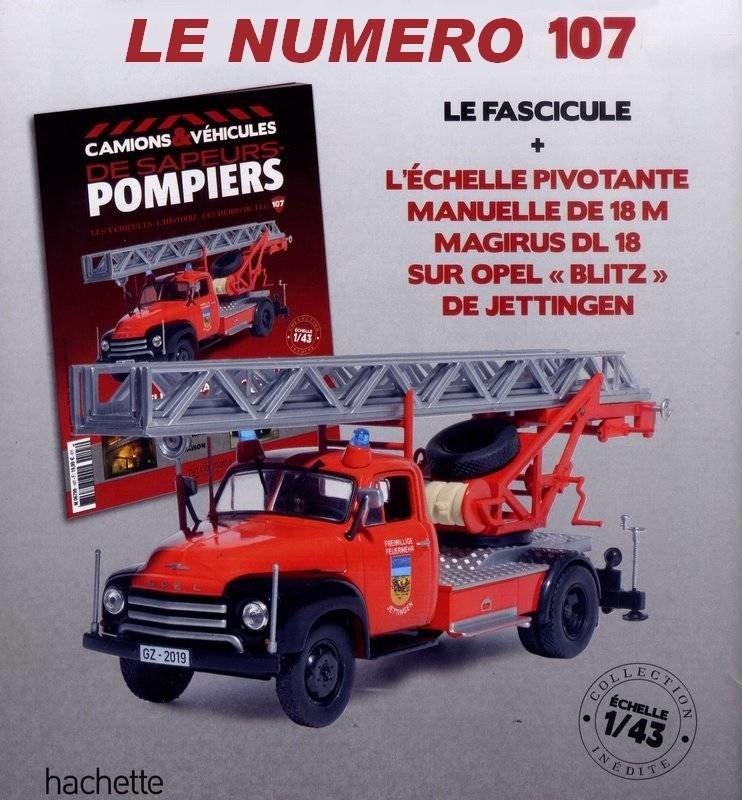OPEL BLITZ ECHELLE 18 m PIVOTANTE MANUELLE 1//43 IXO CAMION  POMPIERS