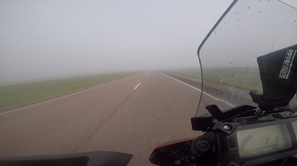 Foggy morning in South Dakota
