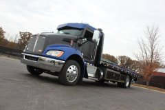 Blue and Gray 2018 KW T270 Show Truck