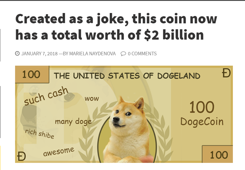 Dogecoin on IG any time soon? - Cryptocurrency and