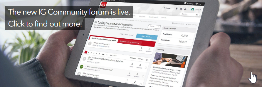 The new IG Community forum is live.  Click to find out more.