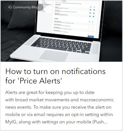 How to turn on notifications for 'Price Alerts'