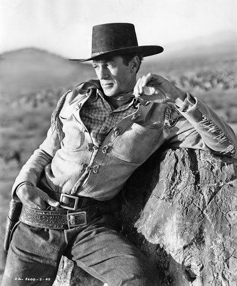 Gary Cooper Collection - Box 2 The Westerner Cooper leans on rock.jpg