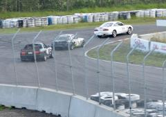 Our youngest driver Dillon holding off a couple of other Mazda Cars.