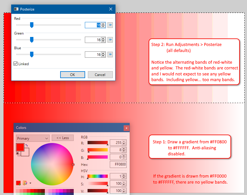 Posterize Rendering Too Many Colors Troubleshooting Bug Reports
