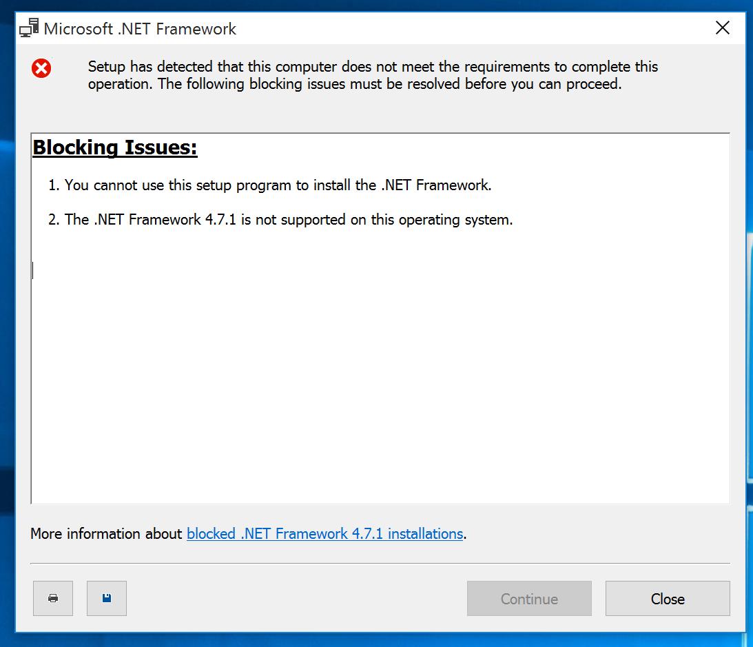 microsoft net framework 4.7 2 for windows 10 version 1803