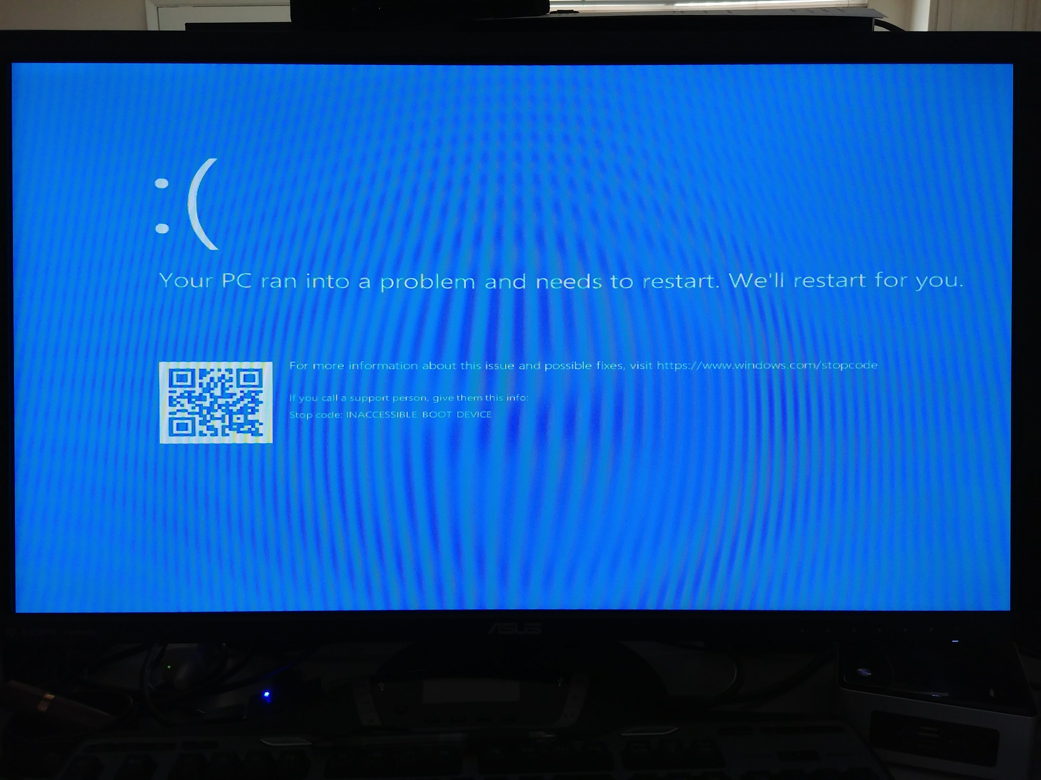 Windows 10 stop code error inaccessible_boot_device | [Solved