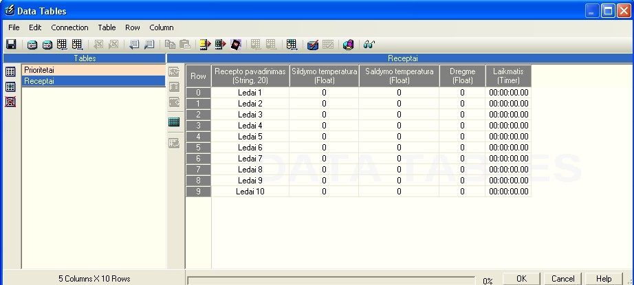 V570 SD cards , Data tables to EXCEL (need example) - Vision & Samba