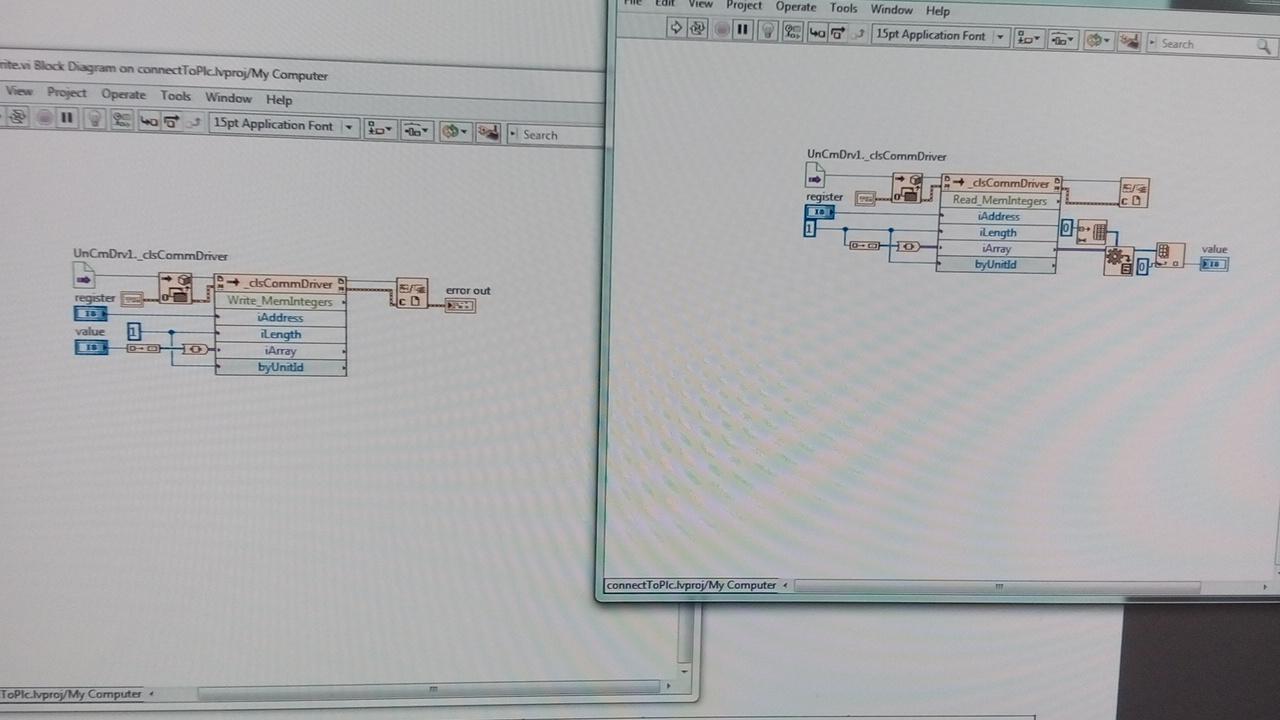 Labview com - Vision & Samba PLC + HMI Controllers