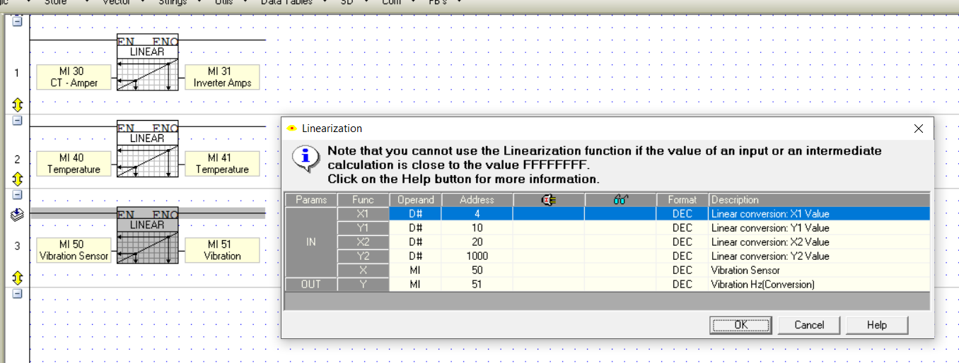 Analog 4-20mA input is incorrect - Vision & Samba PLC + HMI