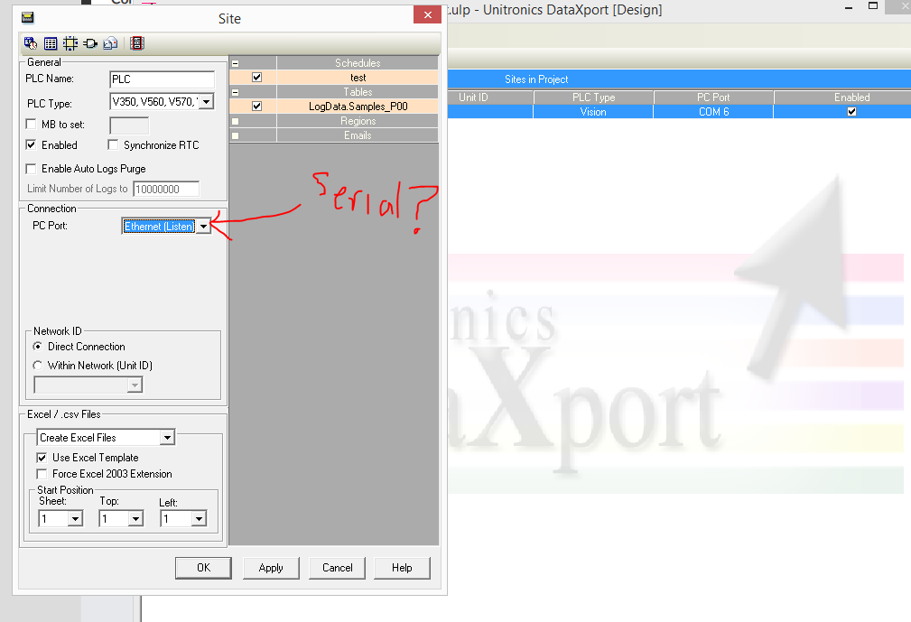Initiate Data Table Download Serially from PLC? - DataXport and