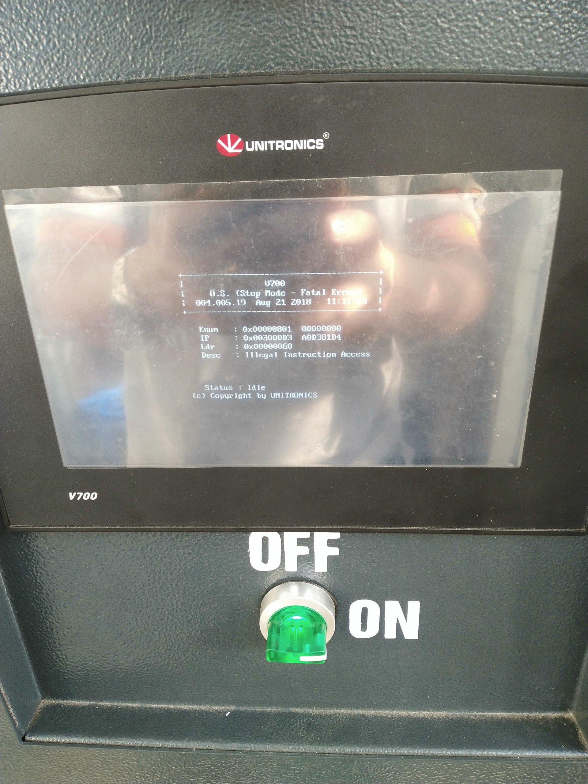 v700- stop mode fatal error - Vision & Samba PLC + HMI