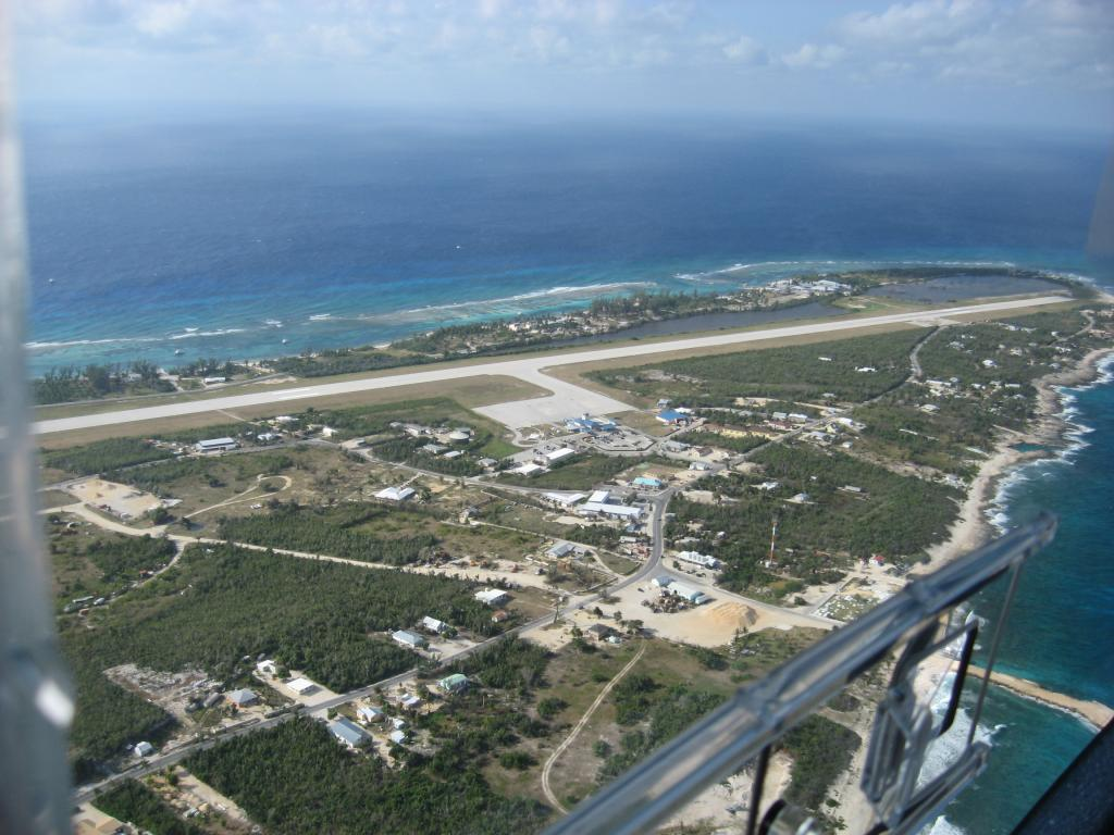 Downwind departure from Cayman Brac