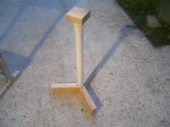 PVC Pipe stand with wooden legs