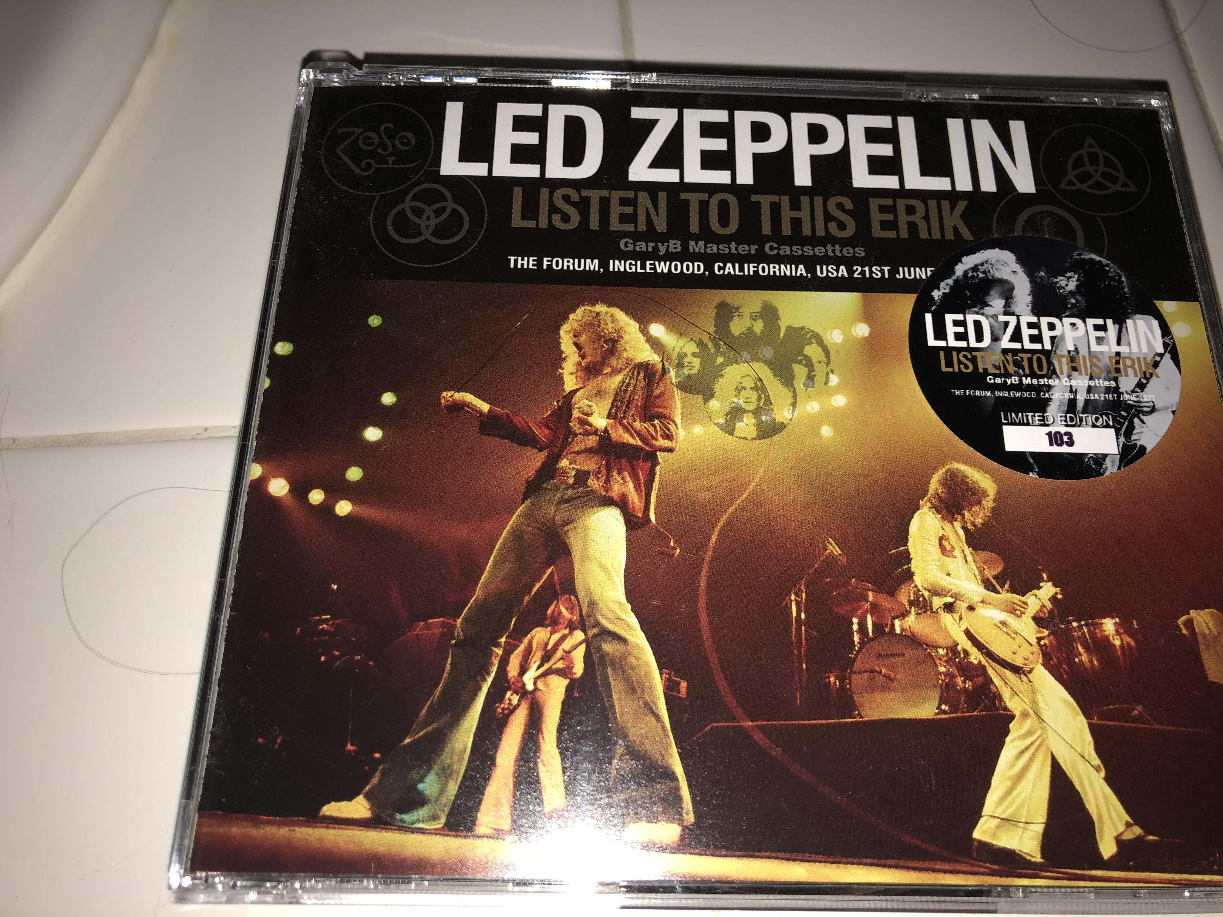 Listen to This Erik Japanese import posted - Led Zep Live - Led