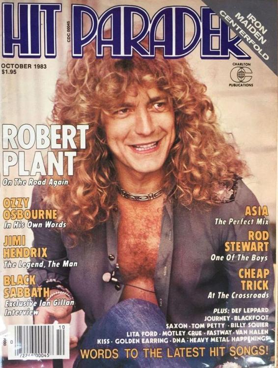 Robert Plant on the cover of Hit Parader October 1983.jpg