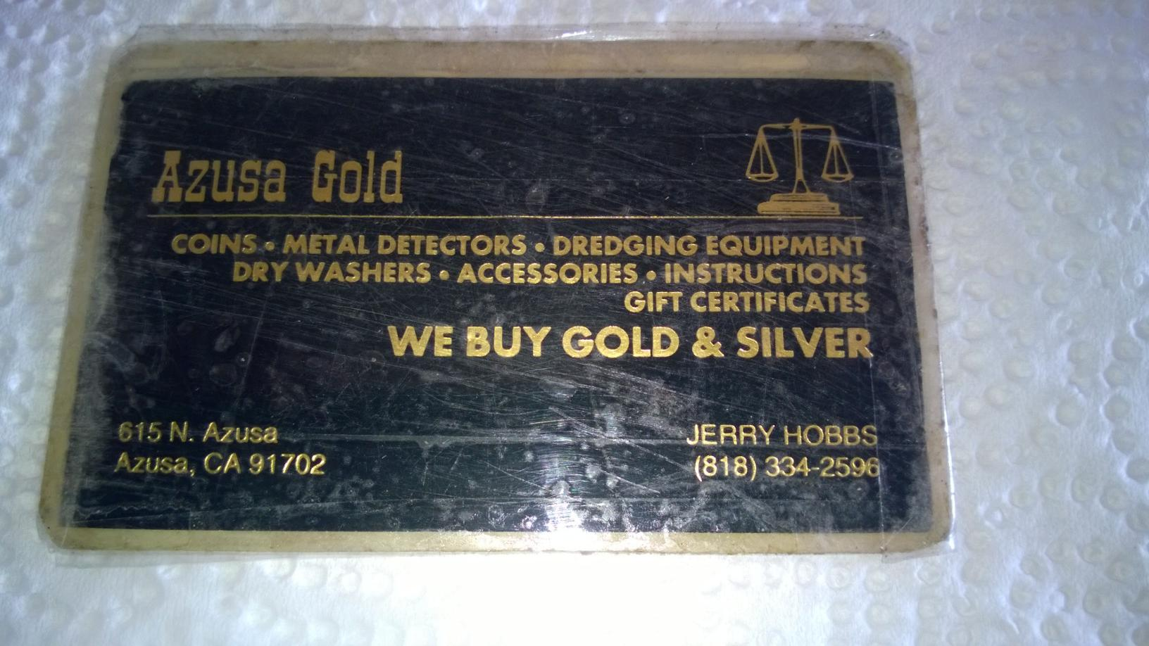 Azusa Gold - GOLD NUGGET HUNTING - Nugget Shooter Forums