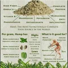 Hemp, The most nutritionally complete food source in the world.