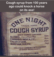 Cannabis cough syrup.