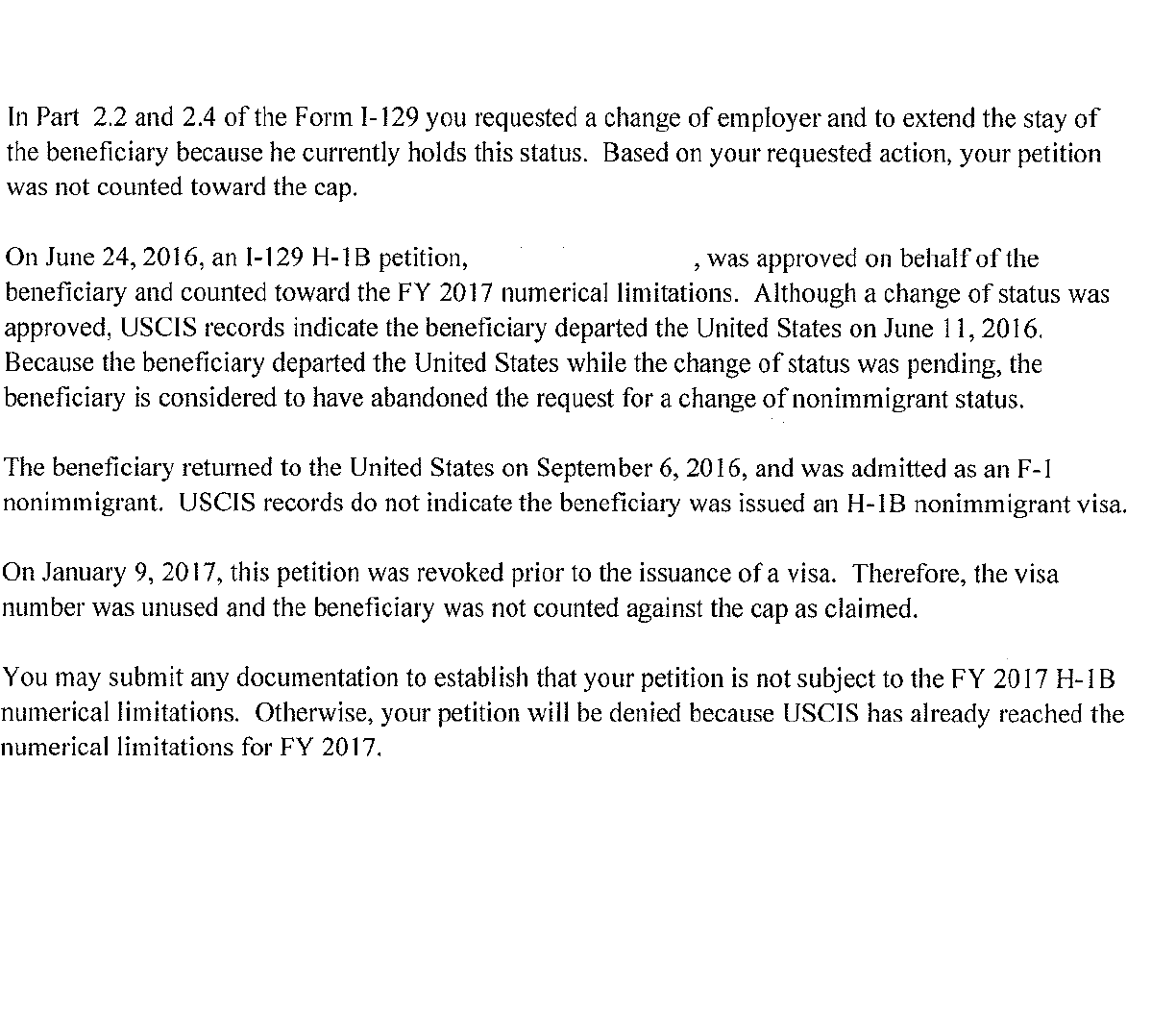 what is that i can do now also see attached and please advise if my h1b is valid or will end up if the i 129 is denied