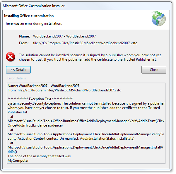 Word Plugin Security Certificate Installation And Configuration