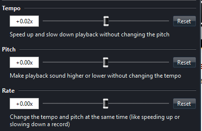 Please add Power AMP to audio speed, tempo, and pitch change