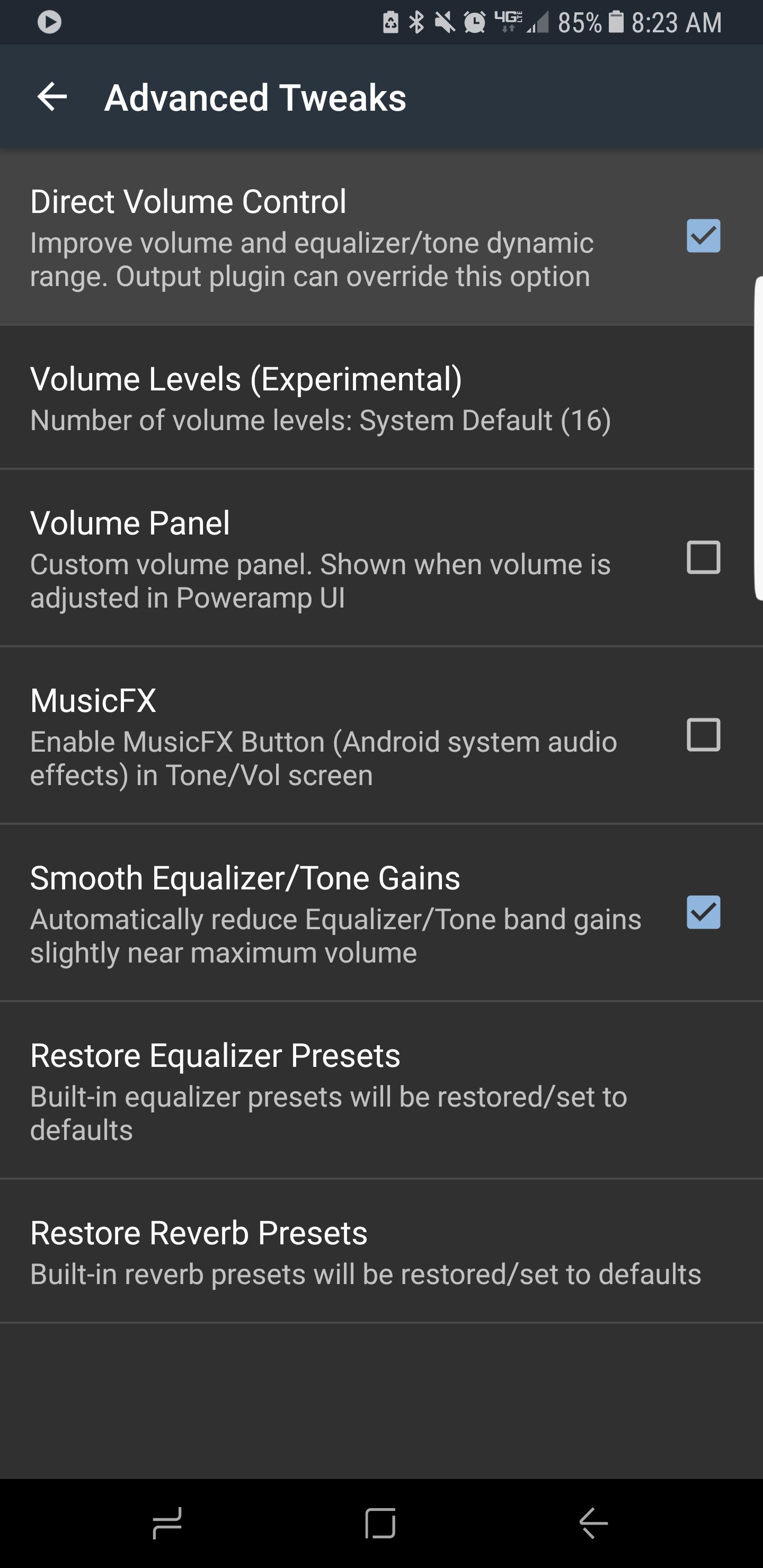 Galaxy S8 Bug Reports Poweramp V3 Volume Controlpng Screenshot 20170601 082320