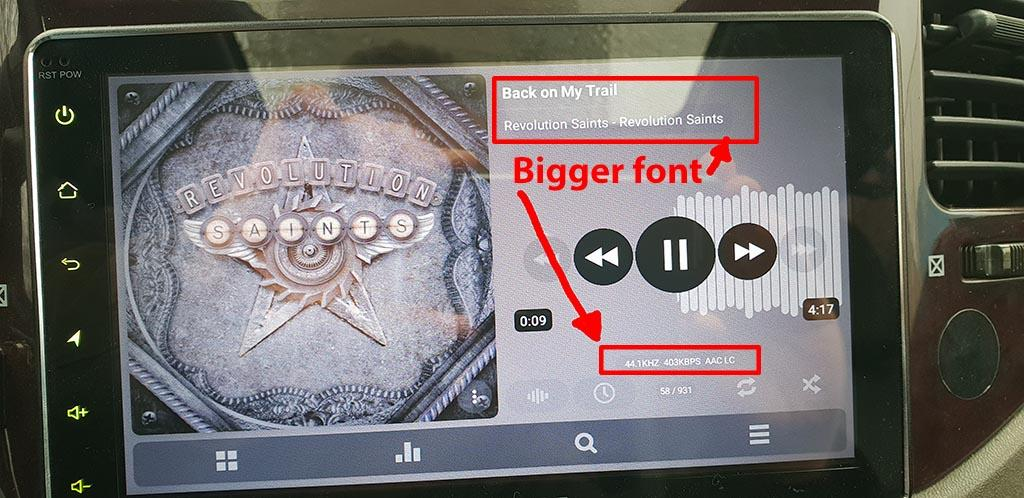 Font changing - Feature Requests - Poweramp