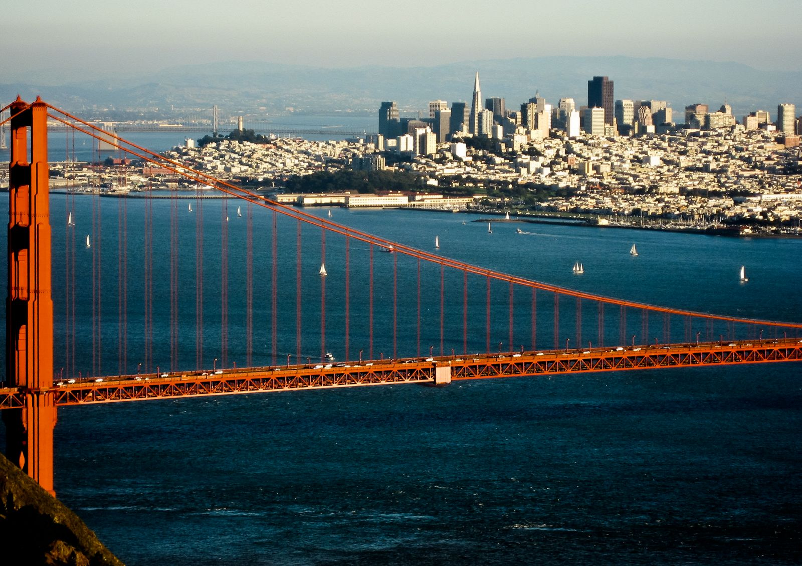 San Francisco Skyline Golden Gate Bridge