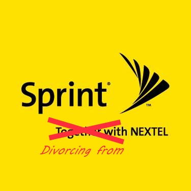 Sprint divorcing from Nextel