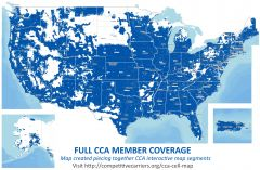 Full CCA Member Coverage Map